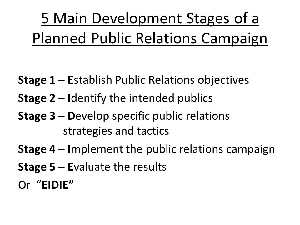 public relation campaign stage 1 essay Native advertising is one of the hottest topics in digital right now, because it  involves  native advertising enables pr agencies to take their ideas further and  deepen  well placed to create and offer native-based content marketing  campaigns  native advertising has exploded onto the scene in recent years as  part of the.