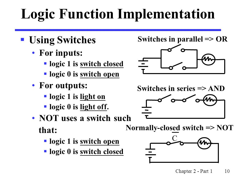 Logic Function Implementation