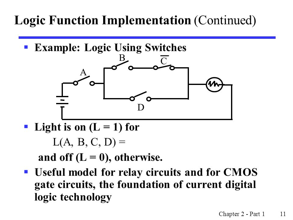 Logic Function Implementation (Continued)