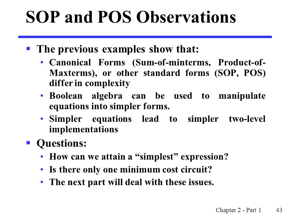 SOP and POS Observations