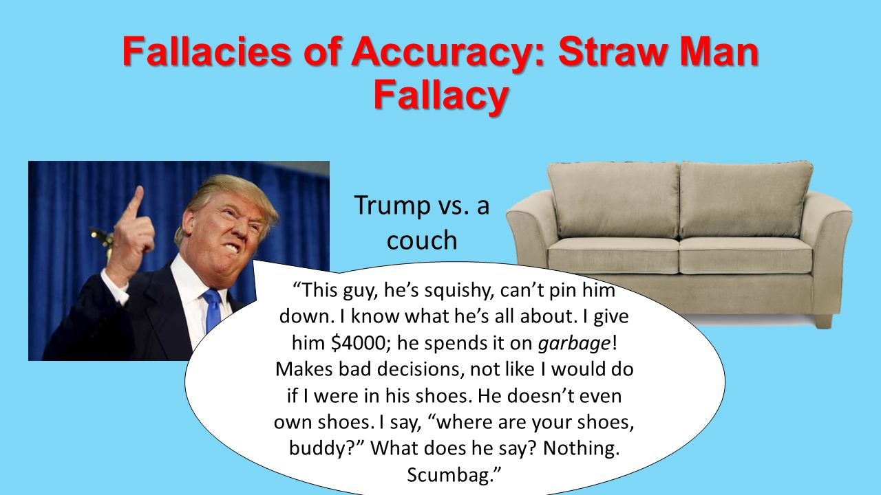 fallacies and dirty tricks identification To arrive at the edge of the world's knowledge, seek out the most complex and sophisticated minds, put them in a room together, and have them ask each other the.