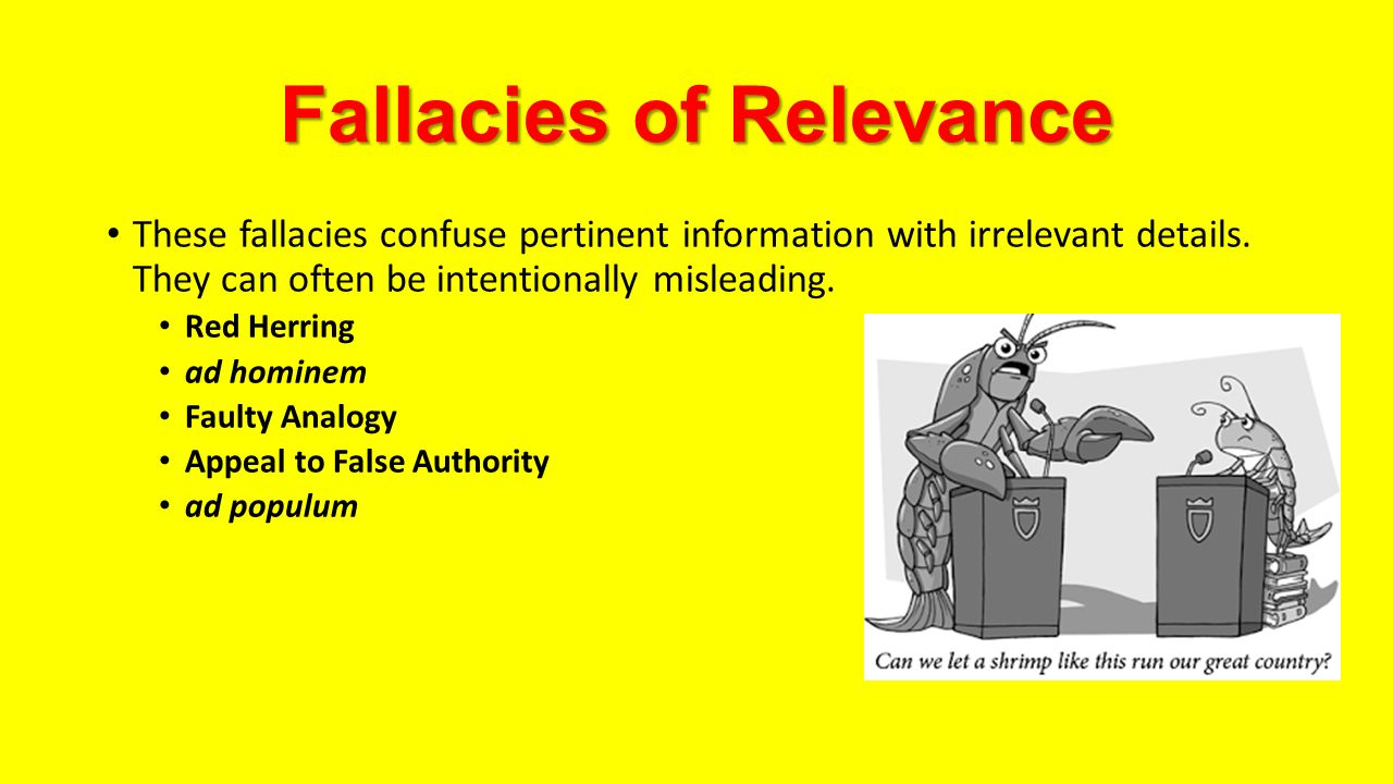 Red Herring Fallacy Examples Crazywidowfo