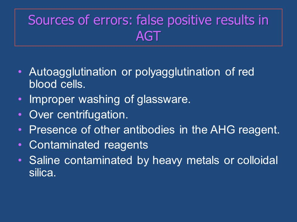 Sources of errors: false positive results in AGT