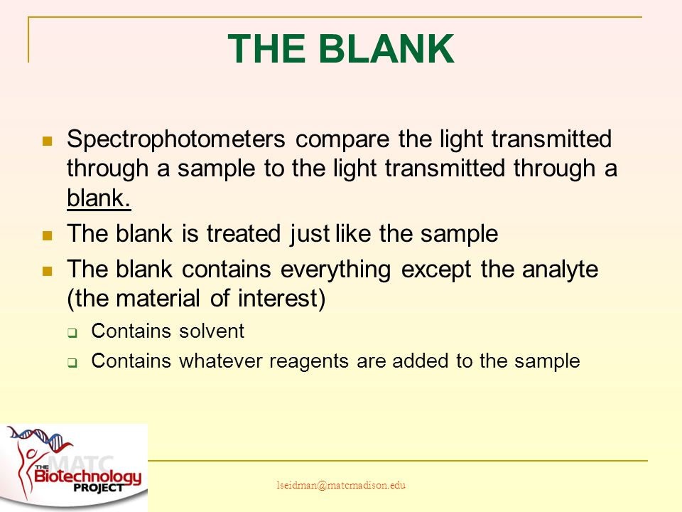 SPECTROPHOTOMETRY IN BIOTECHNOLOGY - ppt download