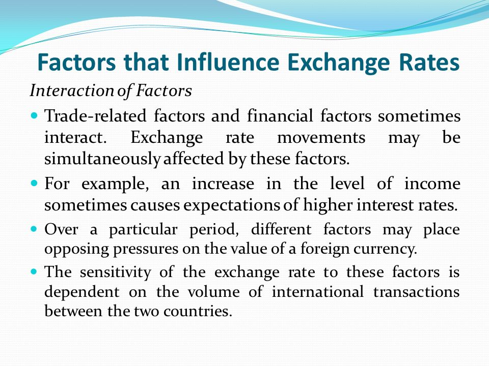 Factors affecting foreign exchange market