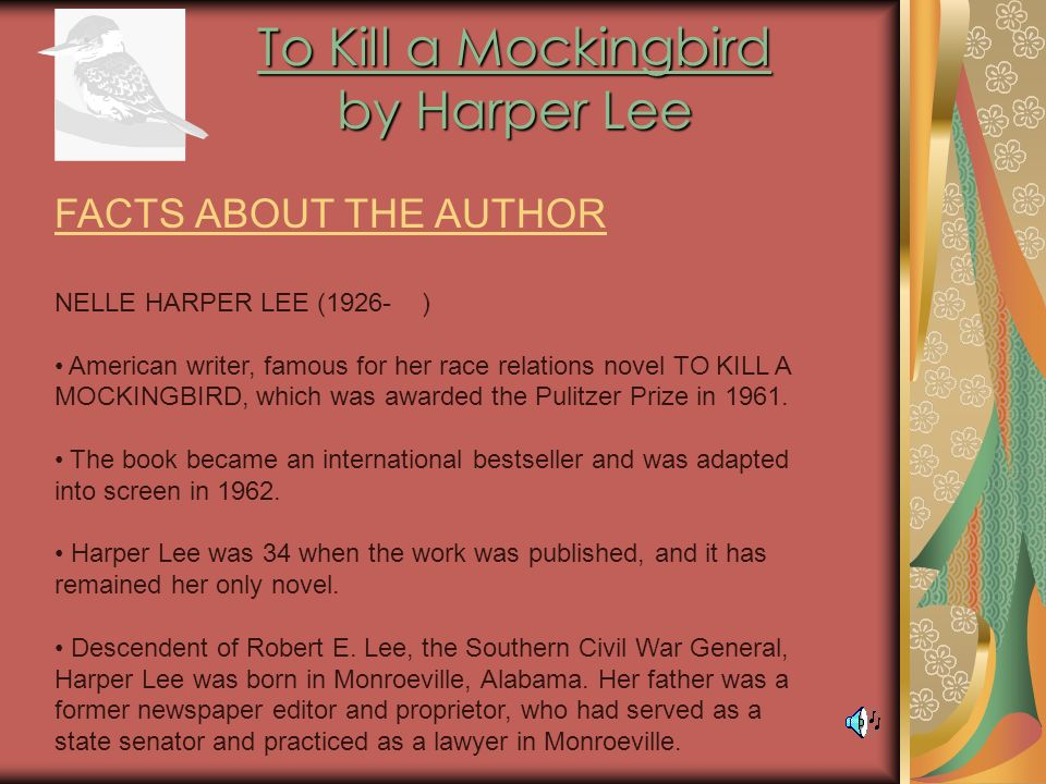 the ideal lawyer in to kill a mockingbird a novel by harper lee Harper lee's to kill a mockingbird fits the bill1 claudia carver, for instance   atticus's daughter scout narrates mockingbird, and the novel is also the story of   in his summation, atticus makes clear his commitment to the ideal of the rule of.
