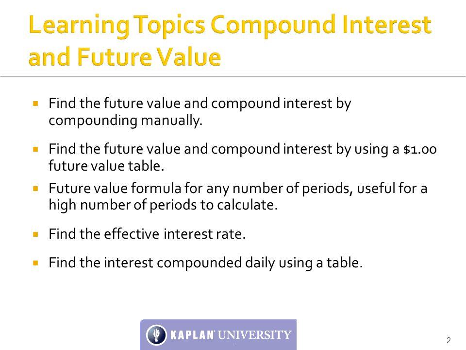 Unit 6 Seminar: Compound Interest, Future Value, and ...