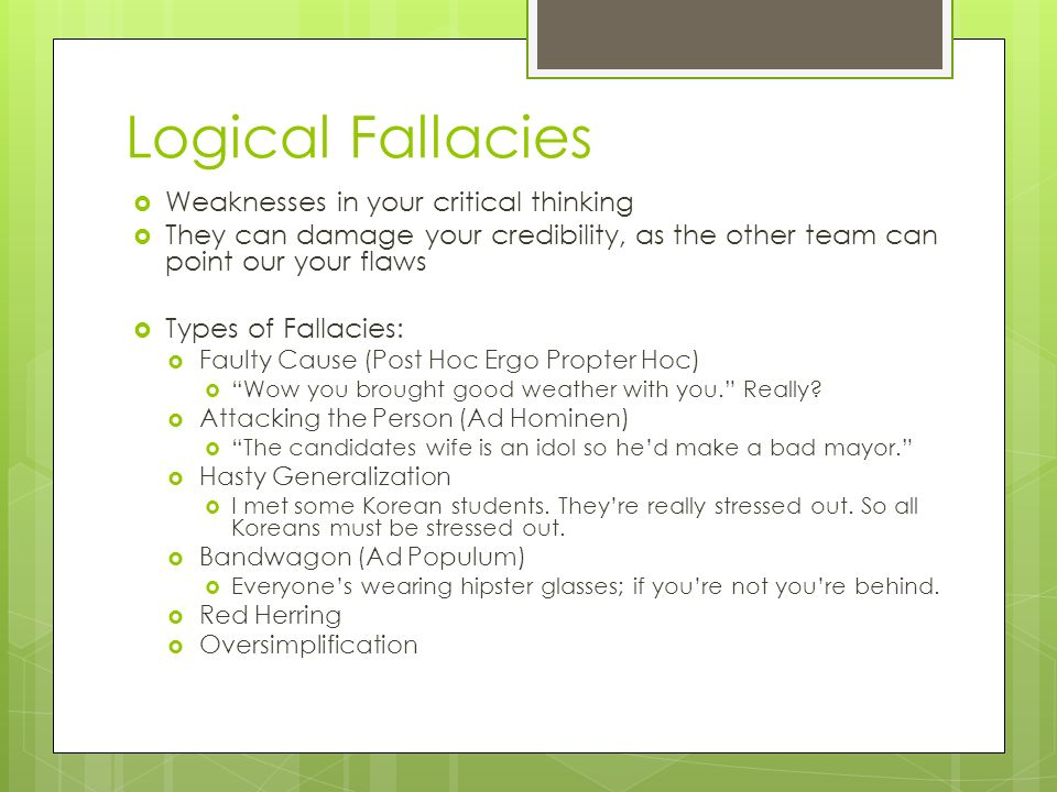 logical fallacies in critical thinking