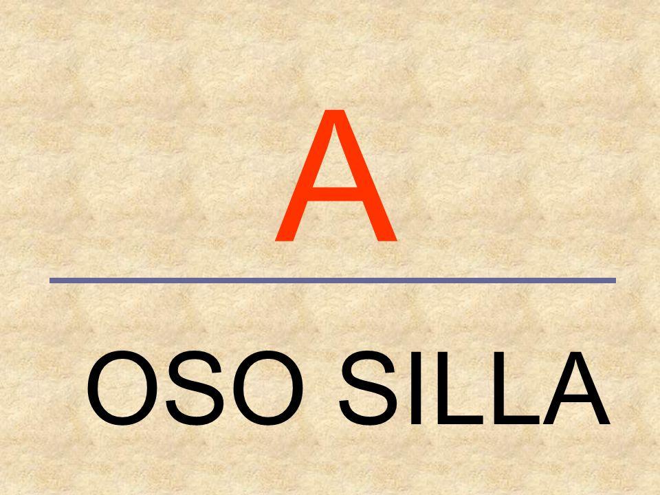 A OSO SILLA