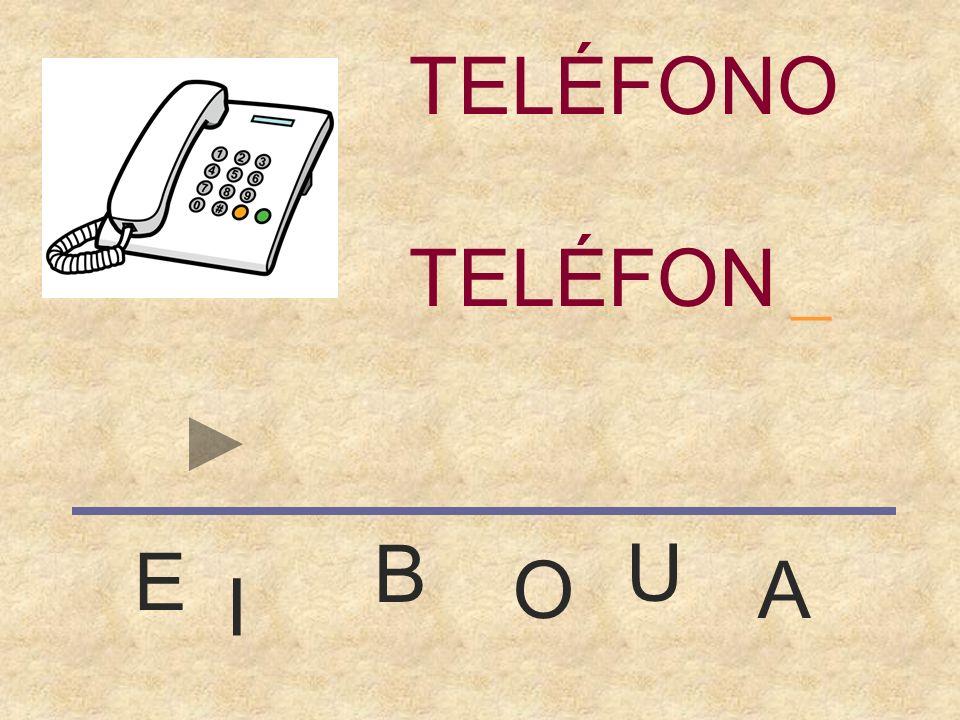 TELÉFONO _ TELÉFONO B U E O A I