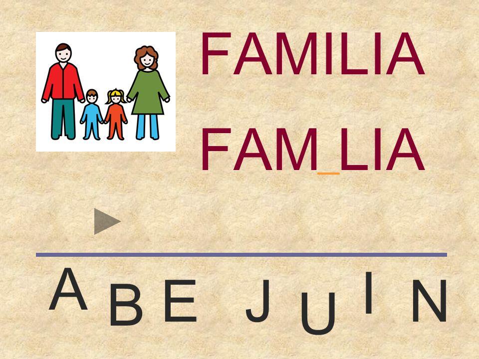 FAMILIA FAMILIA _ A I E J N B U