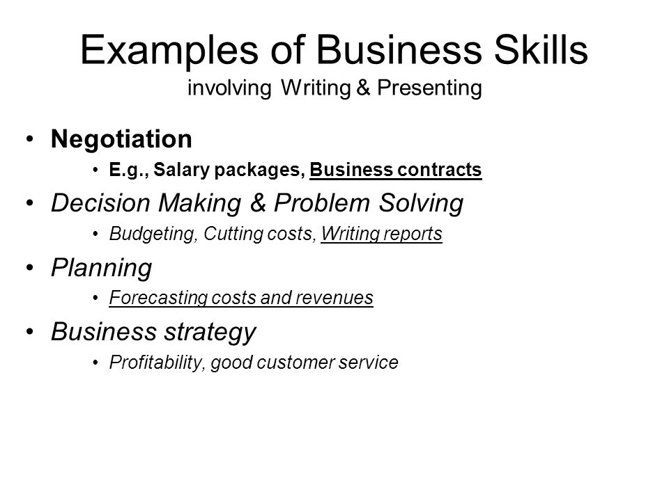 Service Business: Example Business Plan