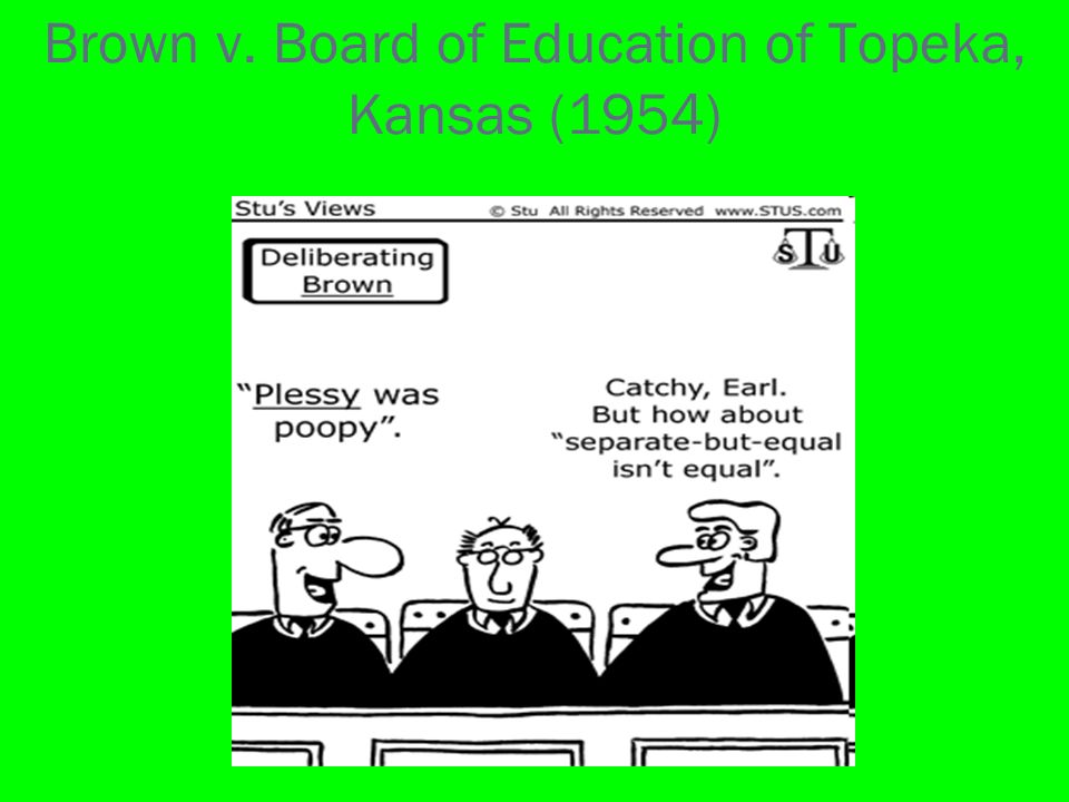 essays on brown v board of education of topeka To what extent did brown vboard of education of topeka pave the way for the  wish to have the essay published on the uk essays website then please click.