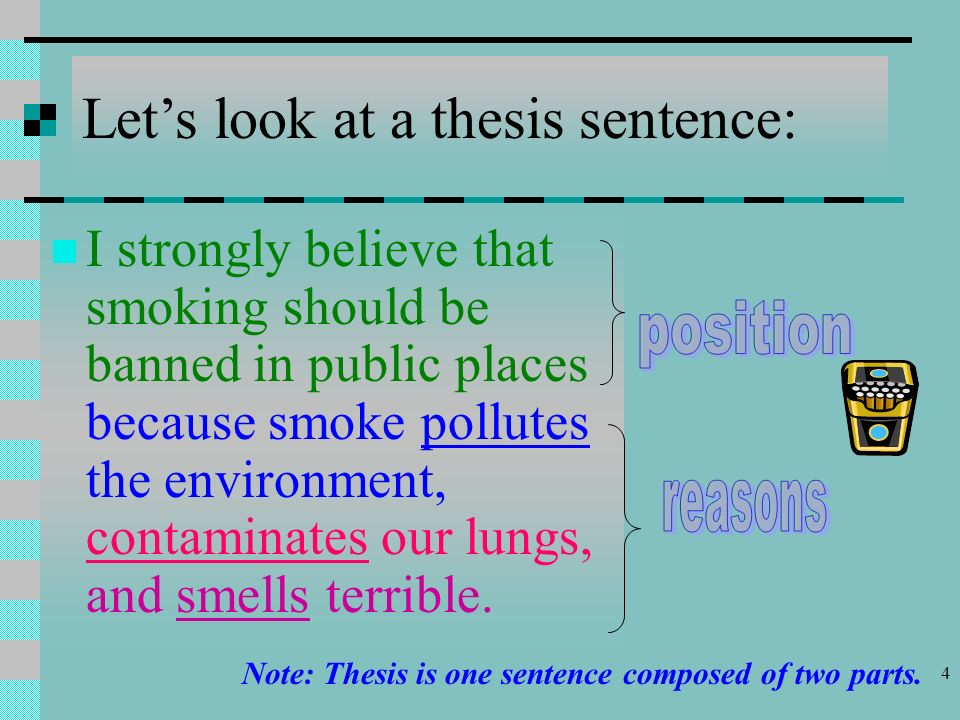 thesis statement argumentative essay smoking Argumentative persuasive example essays title: secondhand smoke my secondhand smoke and cancer essay - thesis statement: smoking health essays] 1837.