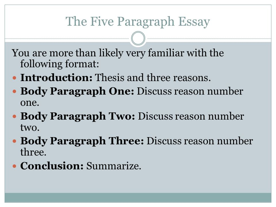 stop teaching the five paragraph essay Fourth grade students learn how to write a five-paragraph essay and continue to expand fourth grade writing standards focus on the writing process as the primary.