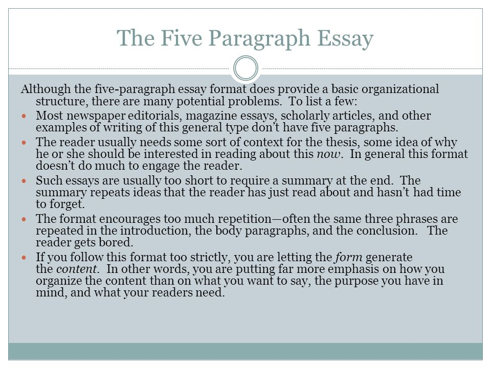 example of paragraph essay help there are five senses five fingers five great lakes 5 star restaurants heck five golden rings the introductory paragraph should also include the
