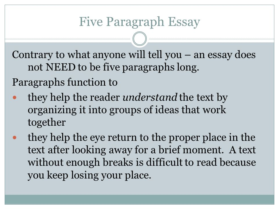 in an essay what is the main function of the body paragraphs In a five-paragraph essay, there are three body paragraphs function of body paragraph a good paragraph helps readers understand the main idea with examples.