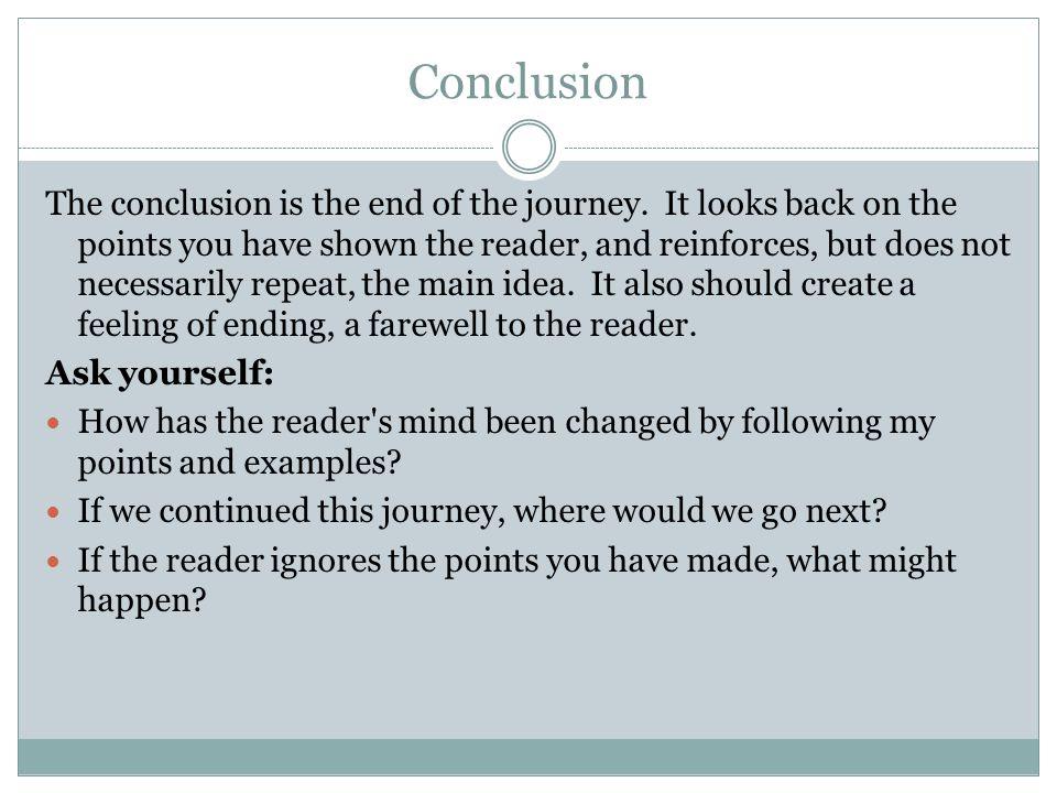Journeys end essay conclusion