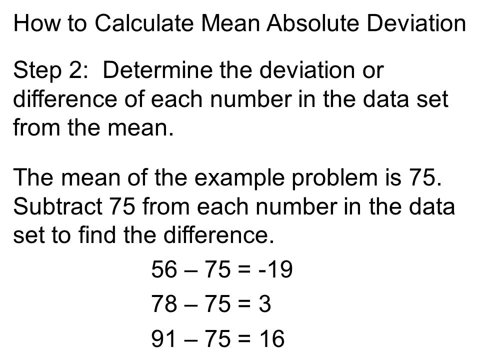 how to solve mean absolute deviation