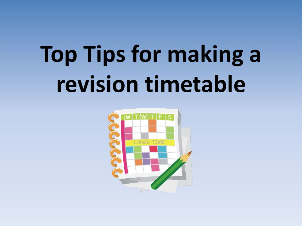 how to make a revision timetable for exams