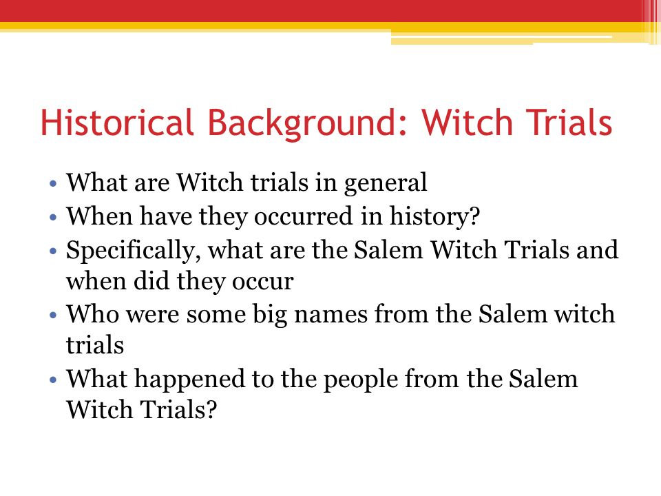 why did the salem witch trials happen essay 14-5-2017 what are some possible explanations for the witch trials in salem, why did so many children die at nothing like the salem witch comparing the similarities in the themes of the movies godfather and goodfellas trials happens.