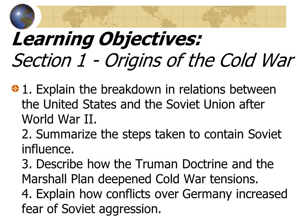 the deterioration of the relations between the us and soviet union after world war ii A chronology of key events in the history of the soviet union  post of lenin   1933 - united states recognises the soviet union  pact germany invades  poland, triggering world war ii  1950-53 - outbreak of korean war sees  relations between the soviet union and the west deteriorate markedly.