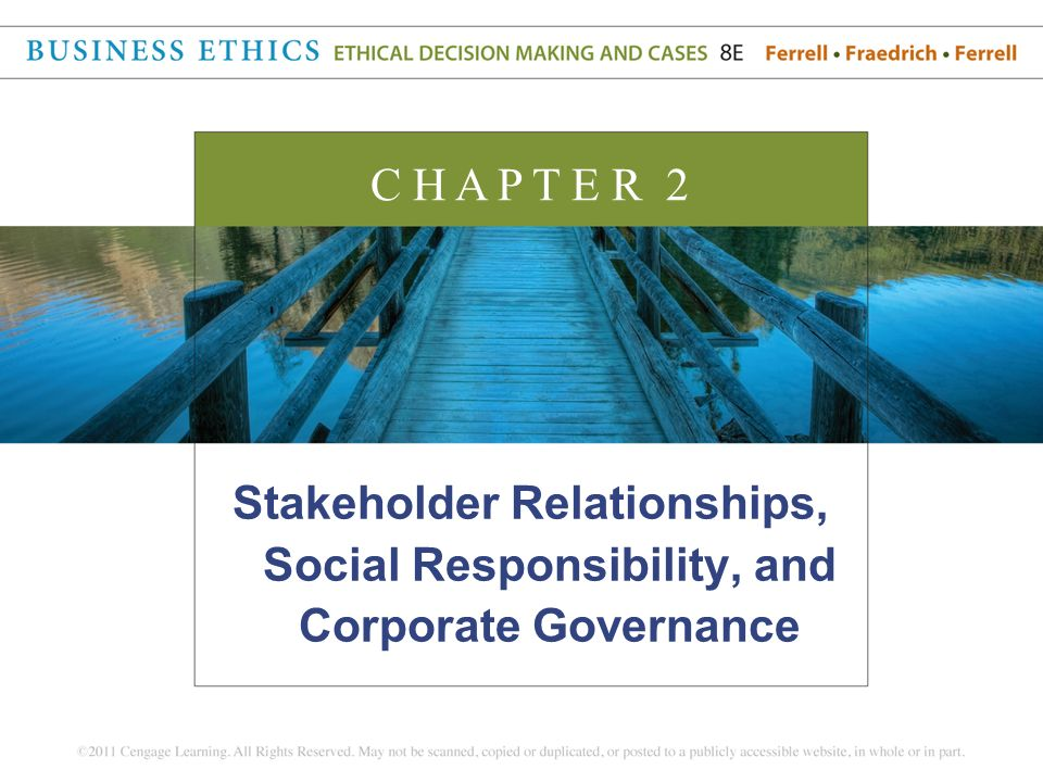 relationship between good governance and corporate social responsibility of a business