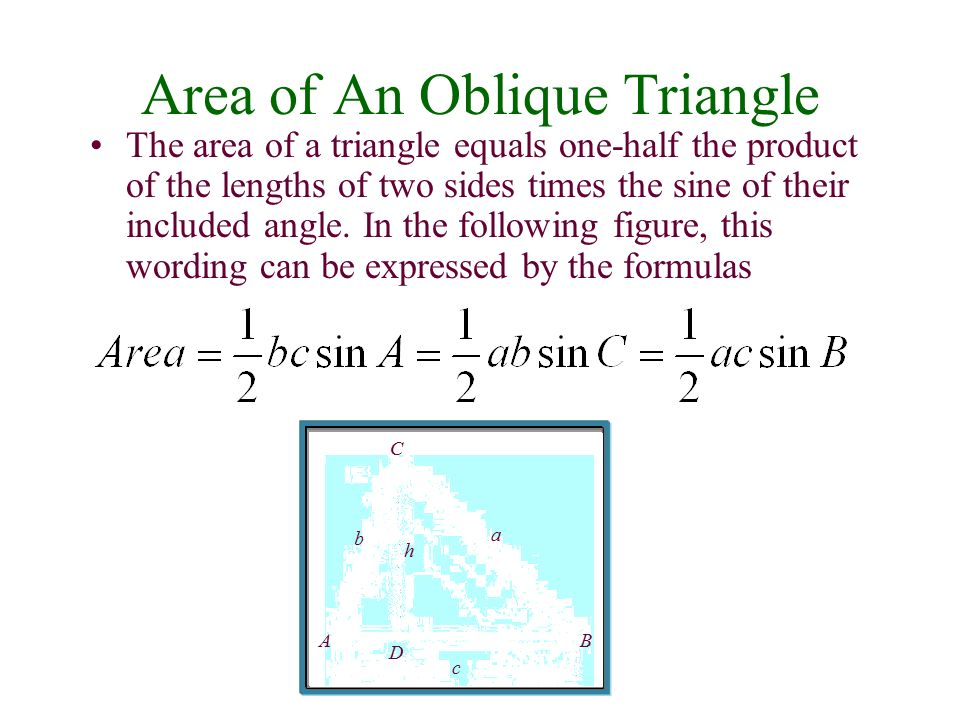 how to find the angles of an oblique triangle
