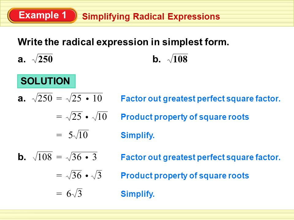 Write the radical expression in simplest form. - ppt video online ...
