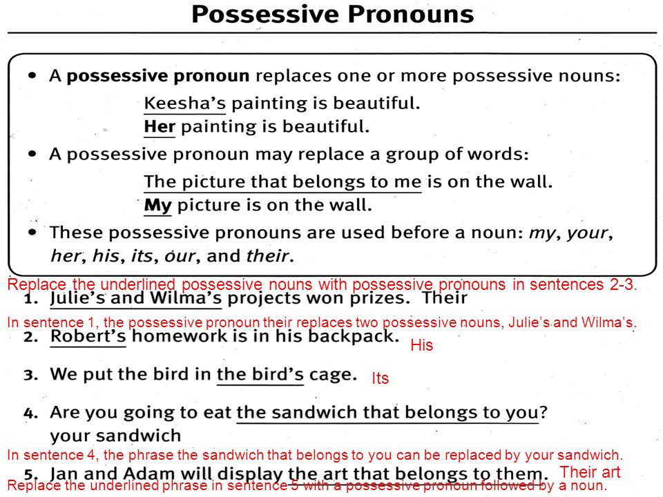 Possessive Nouns- Unit 2