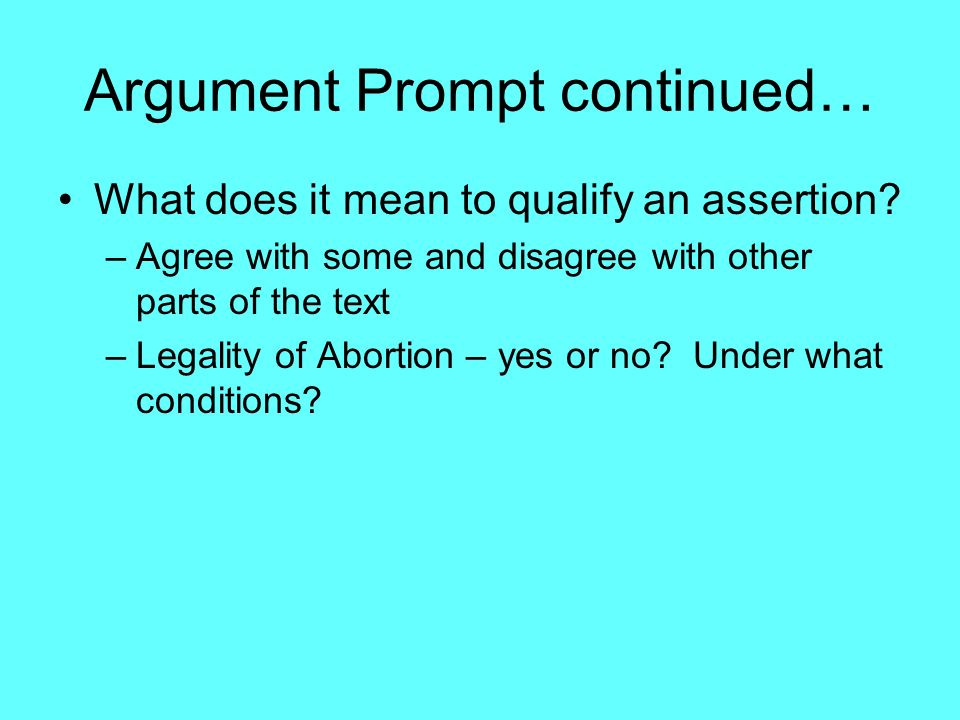 Argument For Abortion Essay