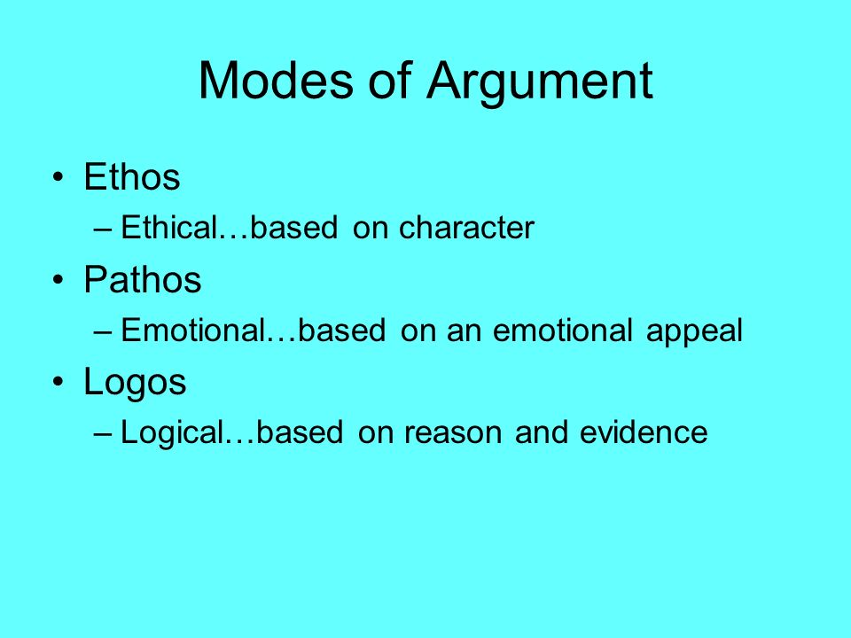 ethical argument Guidelines for ethical persuasion the ethical determinants of most of advertising and public relations messages are, thus it is necessary that all arguments be.