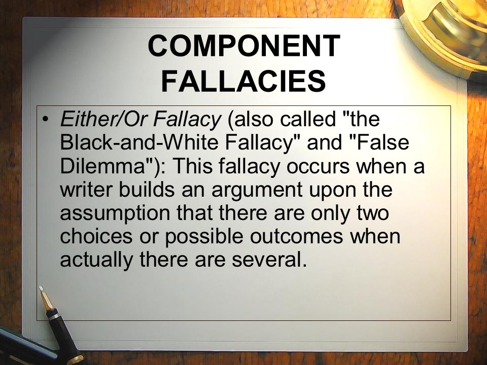 Fallacies, Assumptions and Arguments - Essay Example