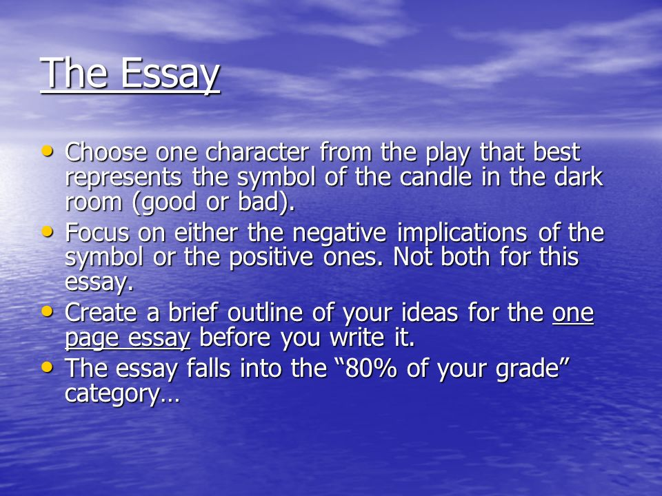"the crucible ""candle essay"" ppt video online  the essay choose one character from the play that best represents the symbol of the candle"