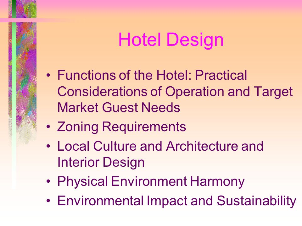 International Hotel Design And Development Ppt Video Online Download