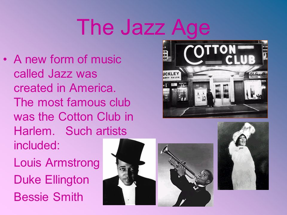 the evolution of jazz music in america New orleans is one of the world's most dynamic live-music scenes learn about  the evolution of jazz and blues in new orleans, and the birth of r&b  african- american traditions that has rural counterparts elsewhere in.