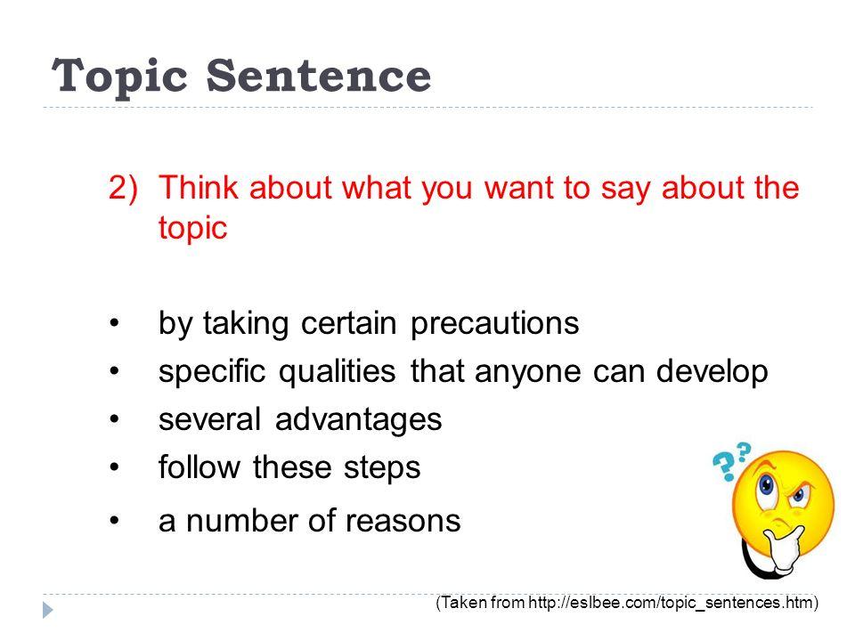jane eyre topic sentences