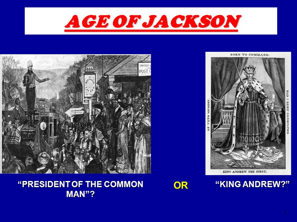 President jackson common man or king