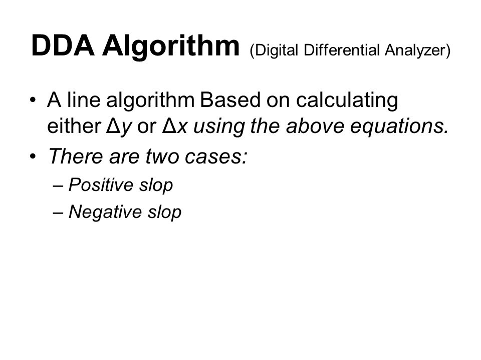 DDA Algorithm (Digital Differential Analyzer)