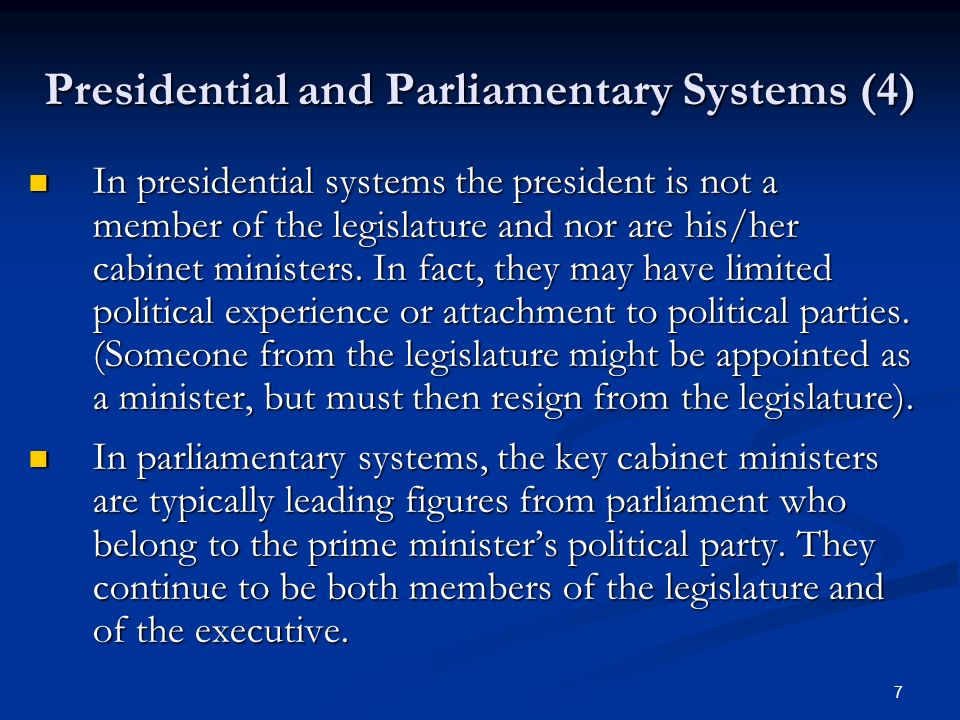 Superb Presidential And Parliamentary Systems (4)