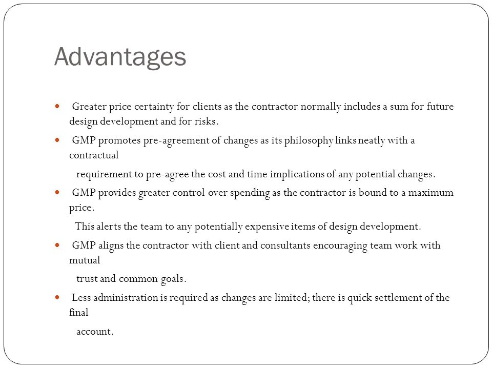 Design and build contract cost certainty types of for Cost plus building contract