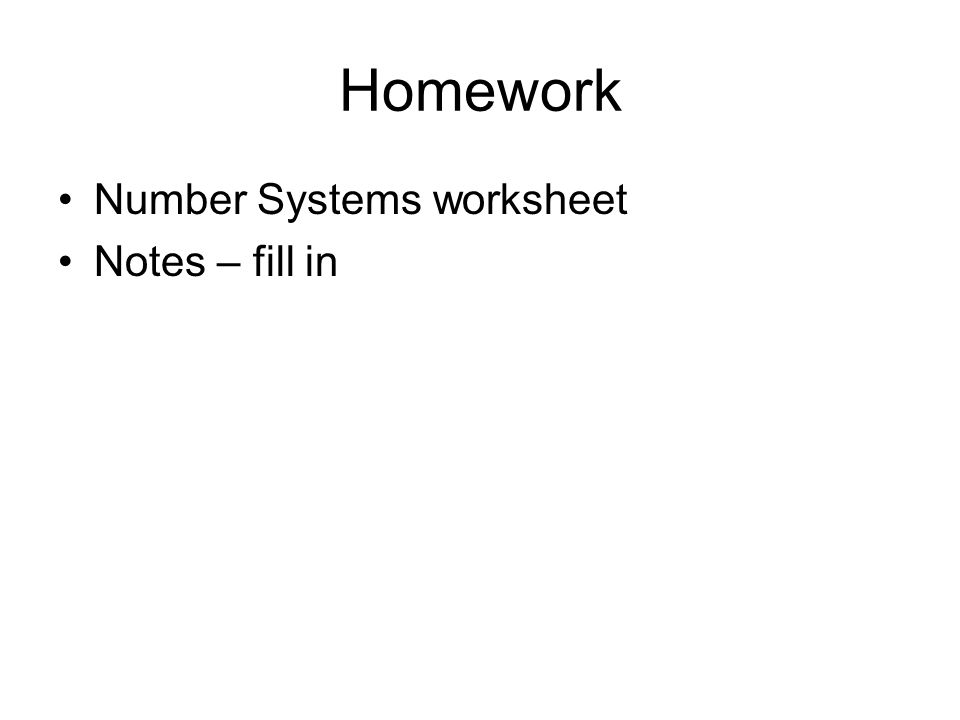 Agenda Last class Memory Digitizing Numbers Today Digitizing – Number Systems Worksheet