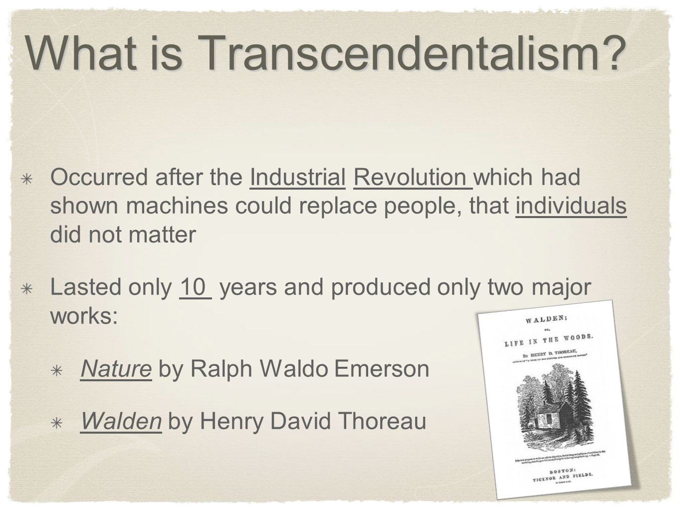 a description of transcendentalism as the belief that matters of ultimate reality transcend or go be Ralph waldo emerson and the sufis: from puritanism to transcendentalism  then he proceeded with a description of  channing emphasised that the ultimate.