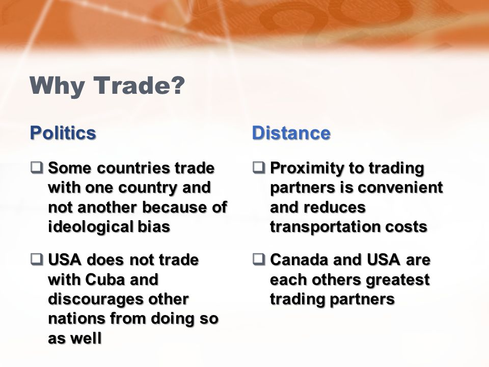 why countries trade 2018-8-22 this is good news for developing countries, which might lack absolute productive advantages, but will always have a comparative advantage in the.