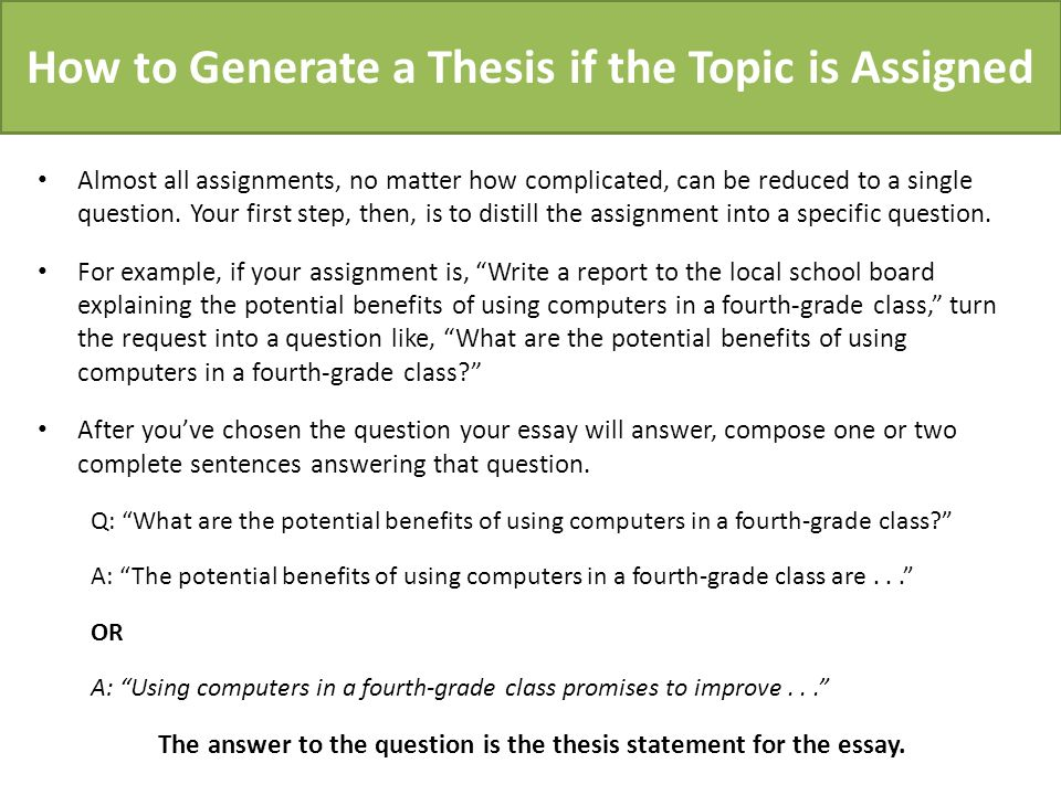 create thesis question