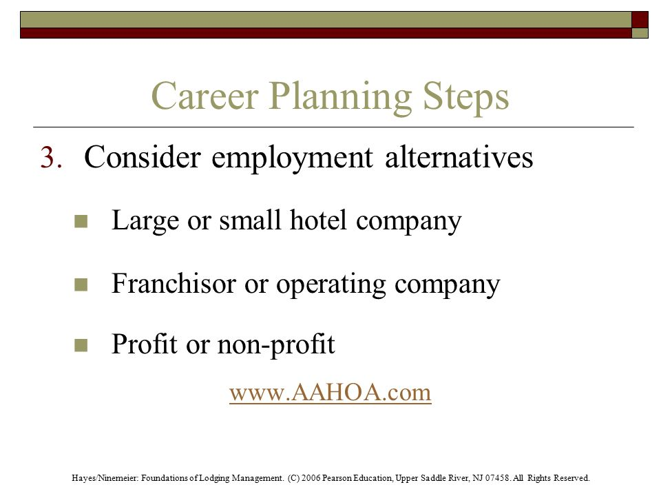 Careers in the Lodging Industry - ppt download