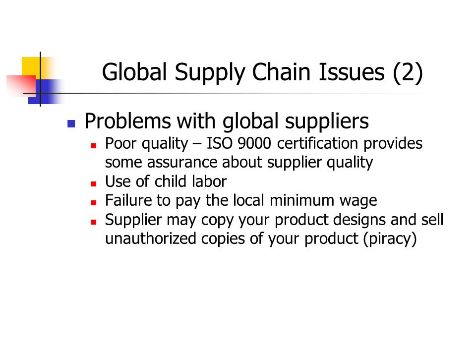 global supply chain A supply chain is a network of entities and people that work directly and indirectly to move a good or service from production to the final consumer.