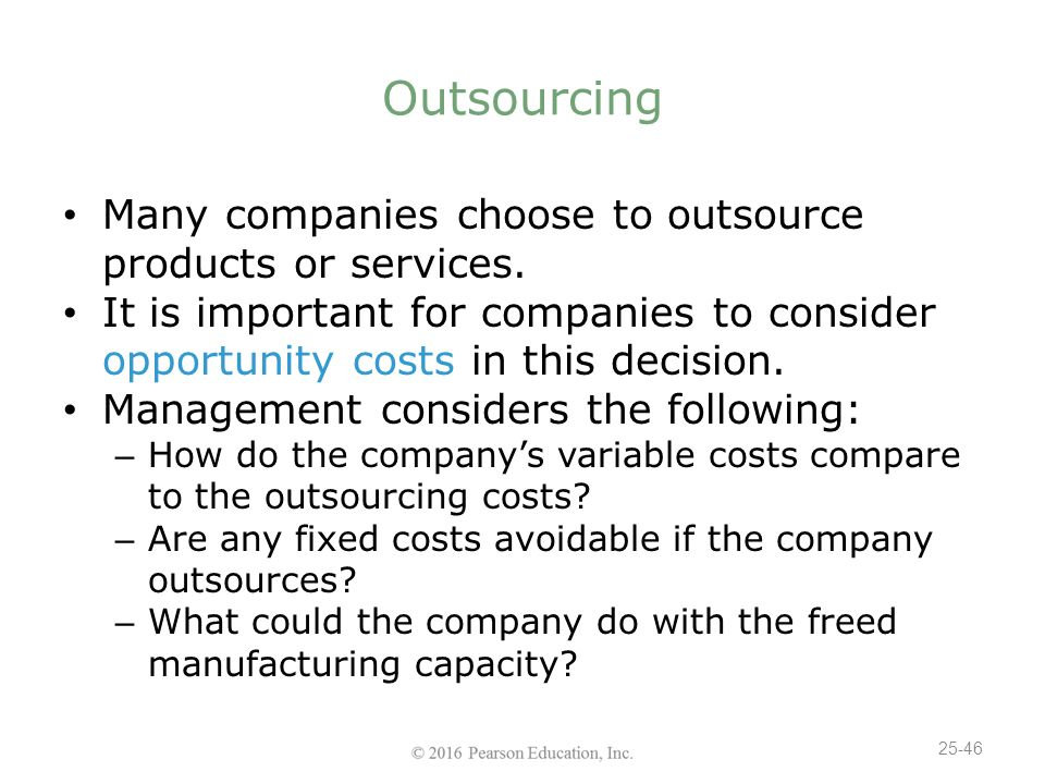 cost savings when a company outsources Man3600 chapter 17  will experience additional cost savings in using the japanese company c) the japanese outsourcing services will become less expensive for .