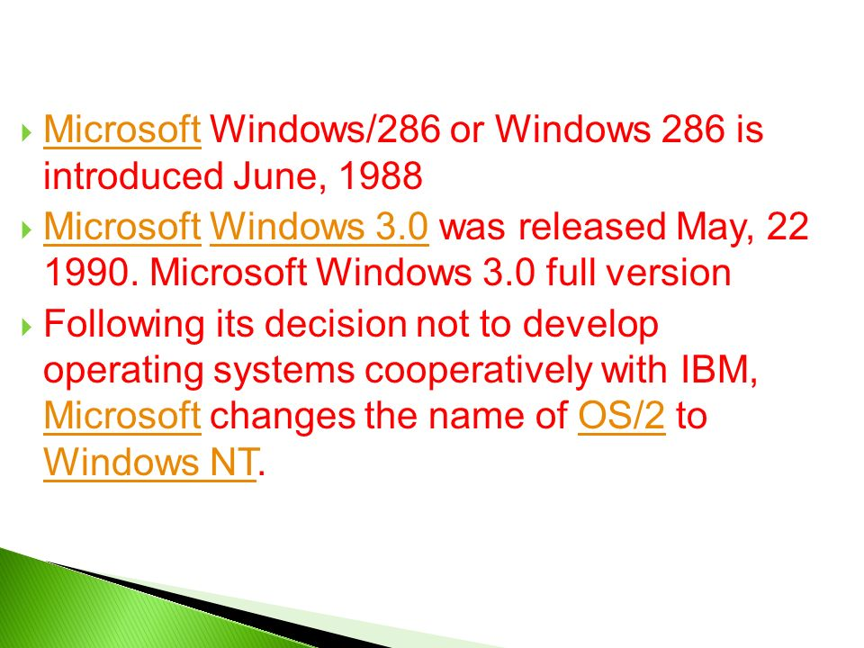 a history of microsoft windows operating system and its versions This topic lists versions of user-mode driver framework (umdf), the corresponding versions of the windows operating system, and the changes made in each release.