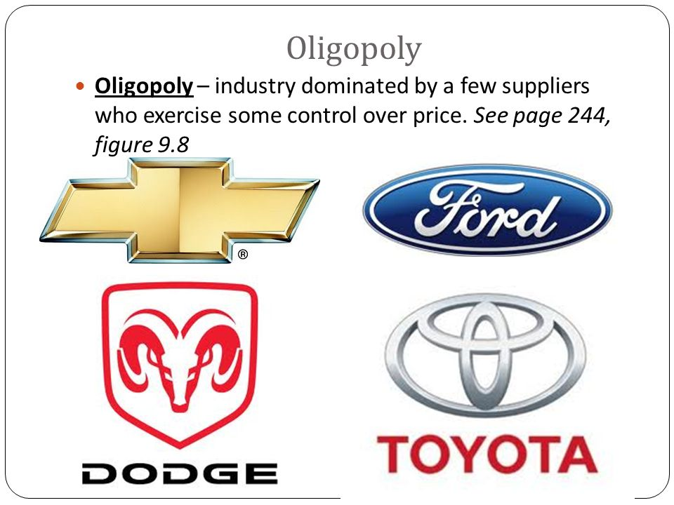 oligopoly india Conclusion the indian oil & gasoline industry is an oligopoly an oligopoly is a market form in which a market or industry is dominated by a small number of sellers the word is derived from the greek for few sellers.
